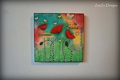 Hey, I found this really awesome Etsy listing at https://www.etsy.com/listing/243434587/mixed-media-painting-poppies-original-on