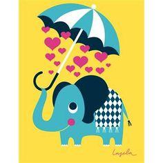 Ingela P Arrhenius kort - Hjerte elefant ~ Ingela P. Arrhenius