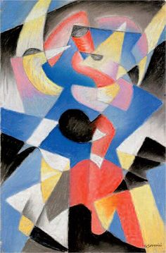 Gino SEVERINI. Dancer. 1912 Pastel on paper. 49 × 32 cm. MOMA, NY. The Riklis Collection of McCrory Corporation