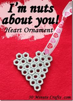 I'm Nuts About You – Heart Ornament