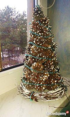 Znalezione obrazy dla zapytania dekoracje bożonarodzeniowe z szyszek