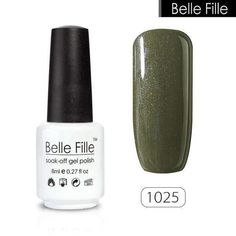 Belle Fille 8Ml Green Nail Polish Lacquer Hybrid Gel Grass Green Navy Blue Indigo Nail Art Resin Gelpolish Uv Lamp Gel Nails