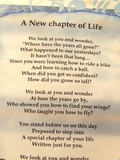 Poem: A New Chapter of Life