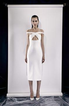 Cushnie Et Ochs Resort 2014 , white dress, midi, vestido , longuete, tomara que caia, strapless