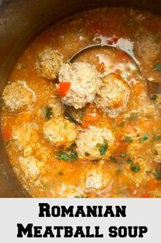 """Romanian Meatball Soup with ground turkey, truly a classic and most certainly a much loved soup. Hearty and comforting, our """"ciorba de perisoare"""" has been a favourite for years, and is regarded as one of our traditional dishes. A great dish all year aroun Ground Turkey Soup, Ground Turkey Meatballs, Ground Turkey Recipes, Soup Recipes, Chicken Recipes, Cooking Recipes, Healthy Recipes, Chowder Recipes, Stuffing Recipes"""
