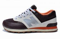 Joes New Balance ML574 Black White Silver Orange Mens Shoes