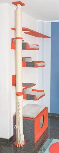 kratzbaum selber bauen 67 ideen und bauanleitungen katzenzubeh r pinterest. Black Bedroom Furniture Sets. Home Design Ideas