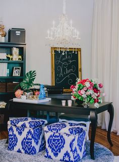 An Event Planner's Bright & Bold Office - Inspired by This