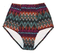 Tribute Tribal  High Waisted Waist Rise Shorts by venderstore