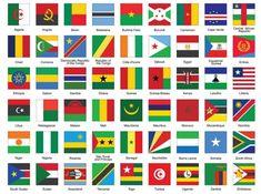 Ícones quadrados com bandeiras africanas — Ilustração de Stock Flags Of European Countries, Countries And Flags, African Countries, All World Flags, World Country Flags, Madagascar, Uganda, German Language Learning, Drawing Quotes