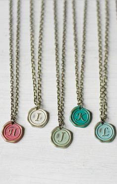 Custom Initial Charm Necklace with my boys' initials