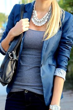 Simple Outfit Idea. I love this blazer!