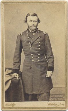 ca. 1860's, [carte de visite portrait of a dashing General Ulysses S. Grant], Matthew Brady