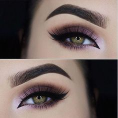 Purple eye makeup looks