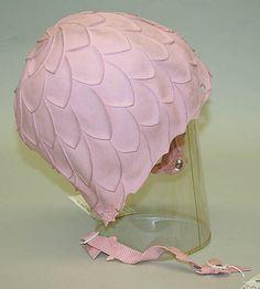 Pink Rubber Bathing Cap by Playtex, American, 1955-1960.