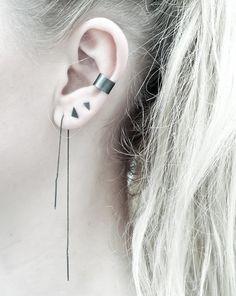 Chain earring - Minimalist ear thread