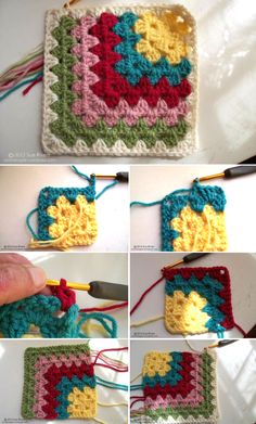 [Free Crochet Pattern] A Very Nice Modern Twist On The Traditional Granny Square