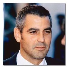 George Clooney Color Box Canvas Print Gallery Wrapped