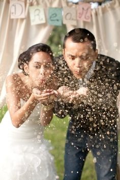 Glitter - Might be cool for a Send-Off! Photography: Natalie and Parker Bray