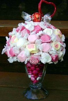 Marshmellow Candy Bouquet - step by step Photo tutorial - Schritt für Schritt Bildanleitung
