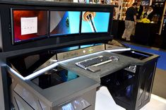 Browse the gallery of Gaming Computer Desk 23872 in Office section. Beautiful Gaming Computer Desk Swordfish The Ultimate Pc Desk Computer For Any Gaming GeekFancy Gaming Computer Desk Gaming Desk EvodeskGreat Gaming Comput Pc Setup, Desk Setup, Office Setup, Pc Cases, Gaming Computer Desk, Computer Programming, Gaming Setup, Best Pc, Cool Technology