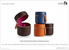 Leather Gift Box for corporates by Crea - India's smartest brand merchandising company.