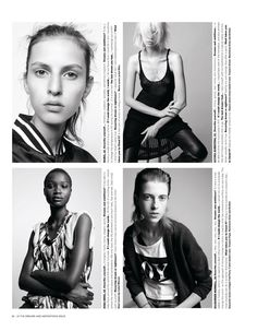New Faces by Amy Troost for <i>i D</i> Fall 2011