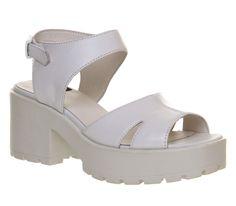 Vagabond Dioon Hinton Sandal White Leather - Sandals