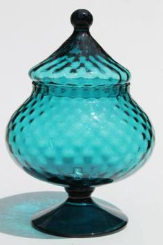 mod-60s-vintage-genie-bottle-apothecary-jar-handblown-art-glass-made-in-Italy