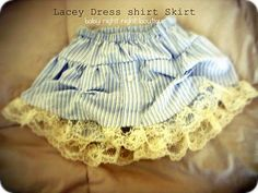Lacey Dress Shirt Skirt