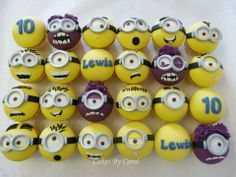 Minion Cupcakes by Cakes by Carol, Peterborough, UK. You'll find this Cake Appreciation Society Member in our Directory at www.cakeappreciationsociety.com