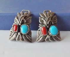 Old Navajo Sterling Silver Native American Watch Tips