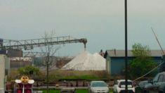 White sand conveyor belt in Duluth Minnesota