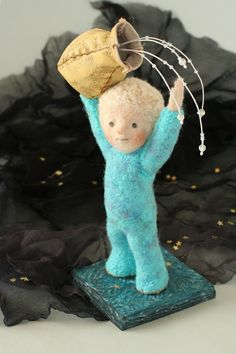 Awesome needlefelted dolls and animals.