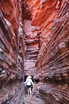 Karajini National Park. Pilbara, Western Australia. This is Hancock Gorge, part of the amazing, mystical wonderful Karajini. To see Karajini one must stay at least a few days. Take some time to hike, climb, and swim your way though the ancient gorges it will be an experience you will never forget. Australia Capital, Western Australia, Australia Travel, Places To Travel, Places To Visit, Lets Run Away, Honeymoon Destinations, Tasmania, Natural Wonders