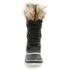 Women's Sorel 'Joan Of Arctic' Waterproof Snow Boot (240 CAD) ❤ liked on Polyvore featuring shoes, boots, mid-calf boots, sorel, mid-calf lace up boots, waterproof boots, calf length boots and sorel boots