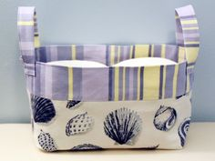 Reversible Household Storage Basket - Free Tutorial #sewing #sewingtutorial