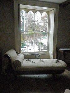 Neat window idea. gothic, but light.