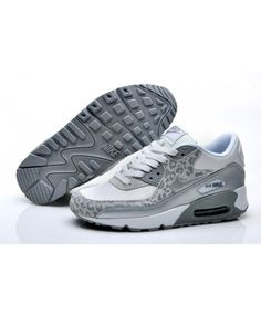 Nike Air Max 90 Leopard Print White Silver Sale Online