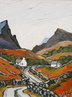 Road to Rhyd Ddu by David Barnes, Type: Oil, Size: 16 x 12 inches, Red Rag Gallery Landscape Art, Landscape Paintings, Paintings I Love, Naive Art, Painting Inspiration, Contemporary Artists, Modern Contemporary, Painting & Drawing, Watercolor Art
