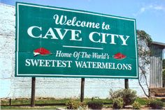 Cave City Welcome Sign - Encyclopedia of Arkansas