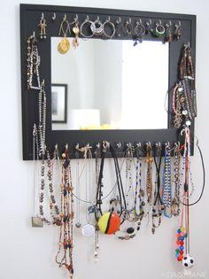 Daisy Janie: repost: how to make a jewelry mirror