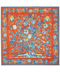 Orange Tree of Life Print Silk Scarf, Liberty London. Shop the latest Liberty London Scarves collection at Liberty.co.uk