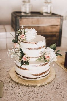 vintage rustic semi naked wedding cake wedding cakes vintage 20 Gorgeous Vintage Wedding Cakes for 2019 Brides Country Wedding Cakes, Floral Wedding Cakes, Wedding Cake Rustic, Wedding Cakes With Cupcakes, Wedding Topper, Elegant Wedding Cakes, Floral Cake, Beautiful Wedding Cakes, Wedding Cake Designs