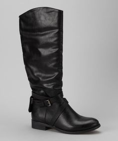 Take a look at this Black Venita Boot by Bucco on #zulily today!