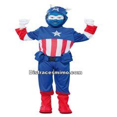 Tu mejor disfraz de capitan america infantil para niño.Este comodísimo traje es perfecto para carnavales, espectáculos, cumpleaños y tambien para las fiesta de los colegios como fin de curso o cualquier otras actividades.