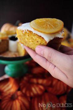 No solo dulces - Bizcocho vegano de calabaza y naranja sin huevos sin leche