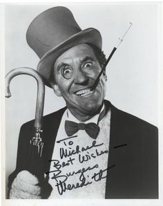 Batman Penguin Villain Signed Photograph Burgess Meredith 1960s