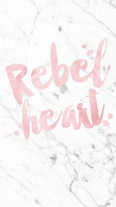 Pink white grey marble Rebel Heart iphone phone background lock screen wallpaper