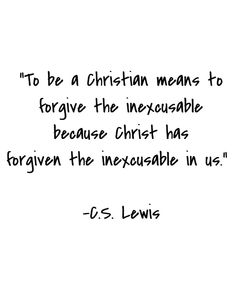 """As it is said in the song """"Losing"""" by Tenth Avenue North.  """"Father, give me grace to forgive them 'Cause I feel like the one losin'"""""""